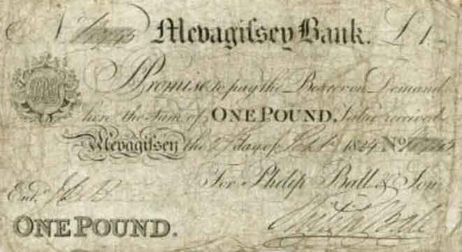 Mevagissey Bank pound note