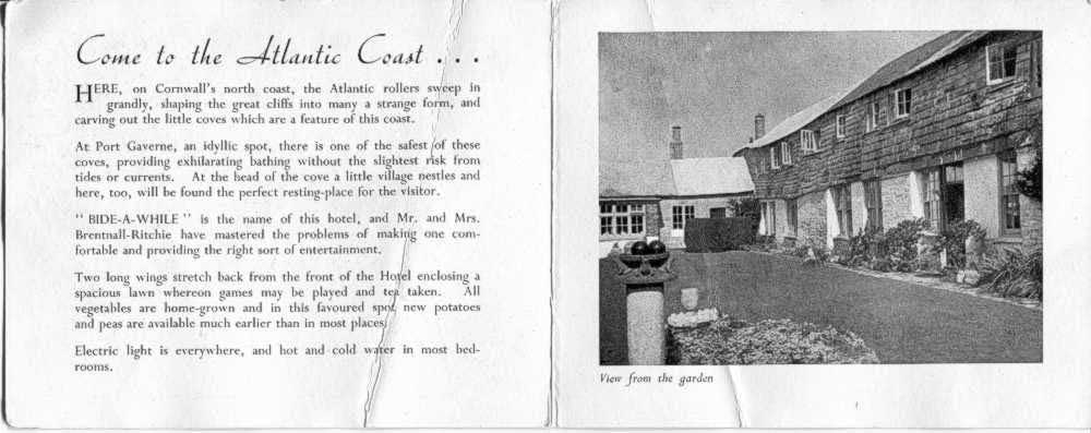 Bide-A-While Brochure 1953 inside